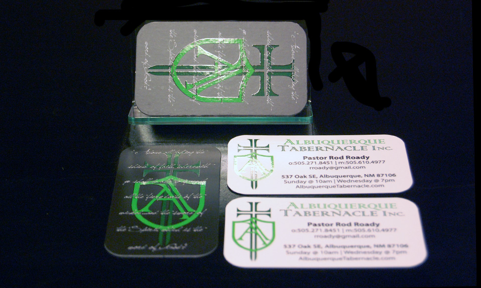 Albuquerque Tabernacle Business Card Design