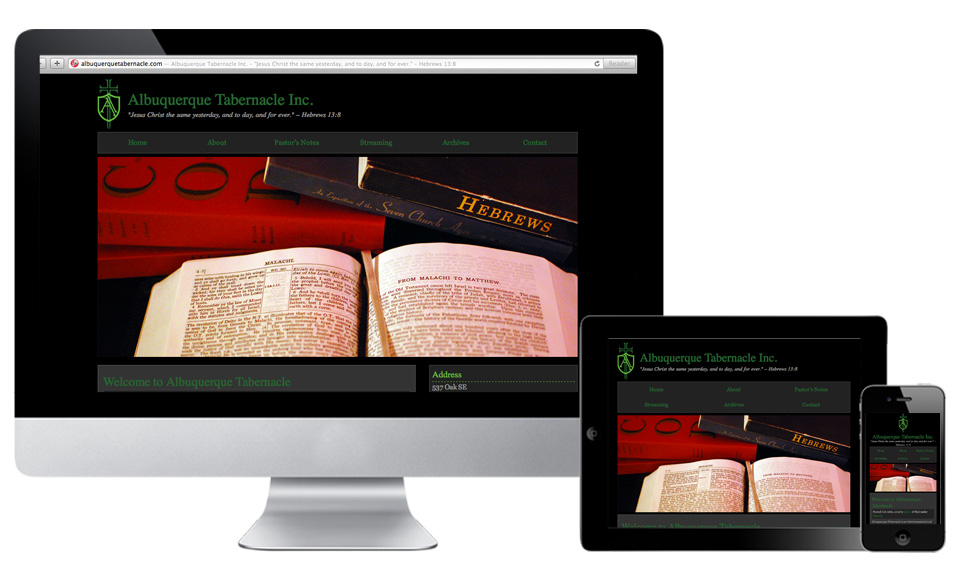 Albuquerque Tabernacle Responsive Website Design