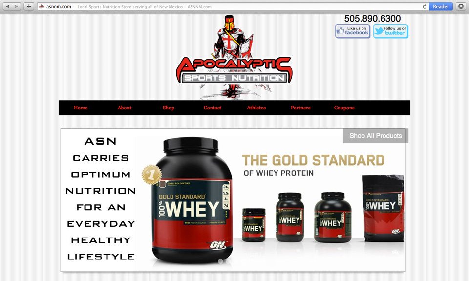 ApocalypticSportsNutrition Website Design