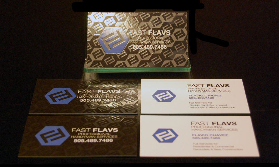 FastFlavs Business Card Design