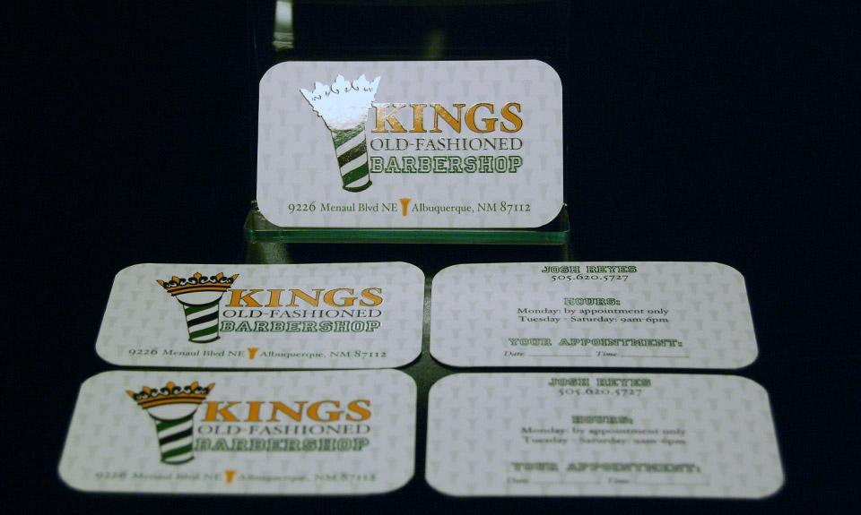 Kings Barbershop Business Card Design