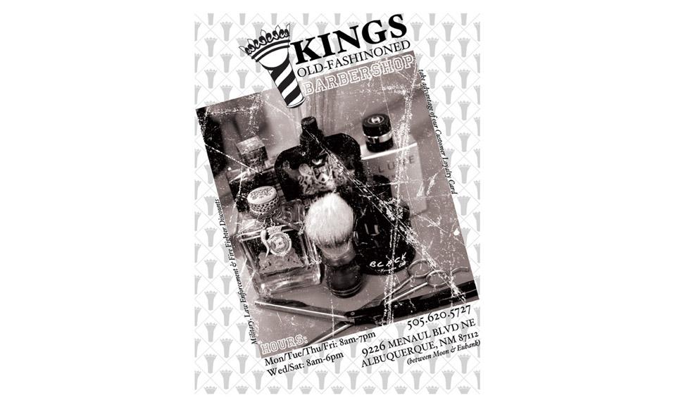 Kings Barbershop Flyer Print Design