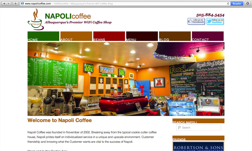 Napoli Coffee Website Design