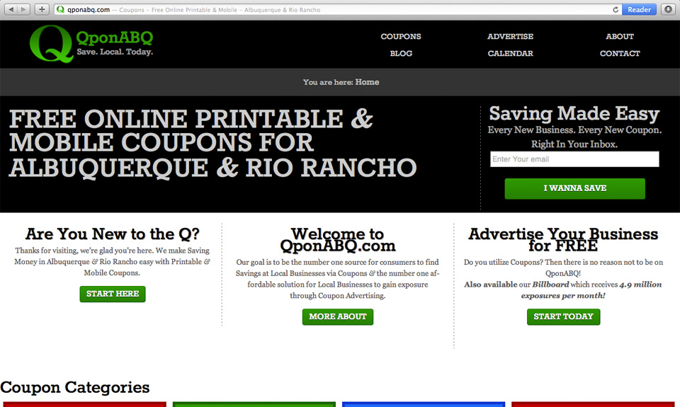 QponABQ Website Design