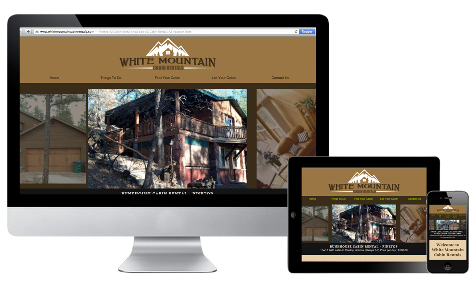 White Mountain Cabin Rentals Responsive Website Design